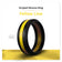 Yellow Striped Silicone Ring Man