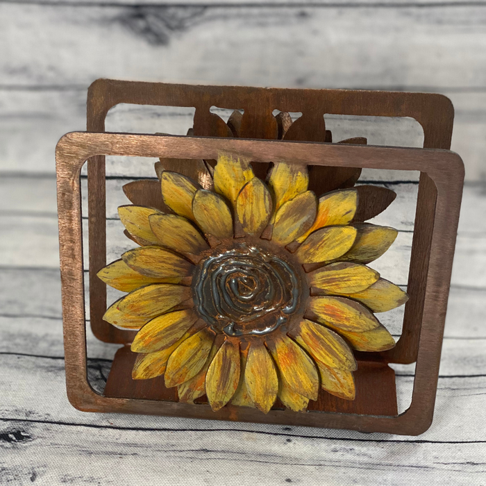 8013 3D Sunflower Napkin Holder WS