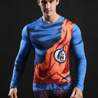 Long Sleeve Anime Men's Compression Shirt - The Trendinator