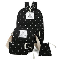 3 Pcs/Set Girls Canvas Backpack Set - The Trendinator