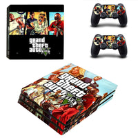 PS4 Pro Grand Theft Auto V Vinyl Decal Skin With Controller Skins - The Trendinator