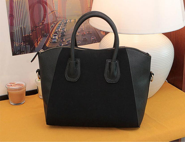Women's Leather Frosted Tote Handbag - The Trendinator