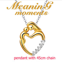 Pure 925 Sterling Silver Beautiful  Gold Pendant Fit For Necklace Mother - The Trendinator