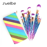 zwellbe 7/12Pcs Diamond Shape Makeup Brushes Set - The Trendinator