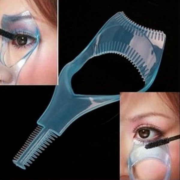 3in1 Mascara Applicator Guide Tool Eyelash Comb Makeup - The Trendinator