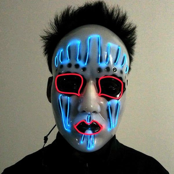 Adult Battery Operated Led Luminous Halloween Mask - The Trendinator