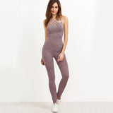 COLROVIE Grey Sexy Cage Neck Jumpsuit - The Trendinator