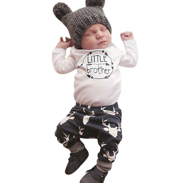 "Baby Boy ""Little Brother"" 2pc Outfit *Hat Not Included* - The Trendinator"