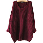 COLROVIE Batwing Sleeve Loose Sweater - The Trendinator