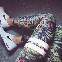 Women's Capri Yoga Floral Print Fitness Leggings - The Trendinator