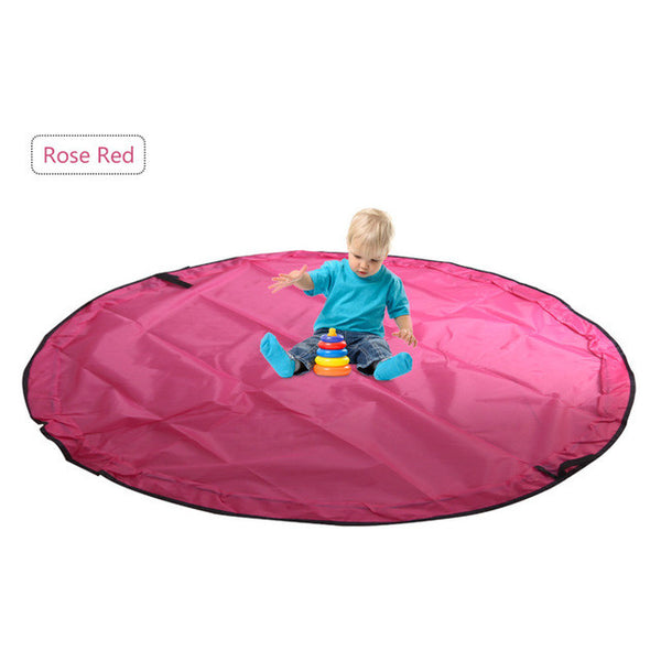 5' Portable Kids Baby Play Mat Large Storage Bag Organizer - The Trendinator