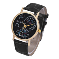 Men's Leather Band Analog Quartzsiness Wrist Watch - The Trendinator