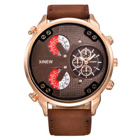 Luxury Men's Aviatorite Automatic Mechanical Date Day Leather Wrist Watch - The Trendinator