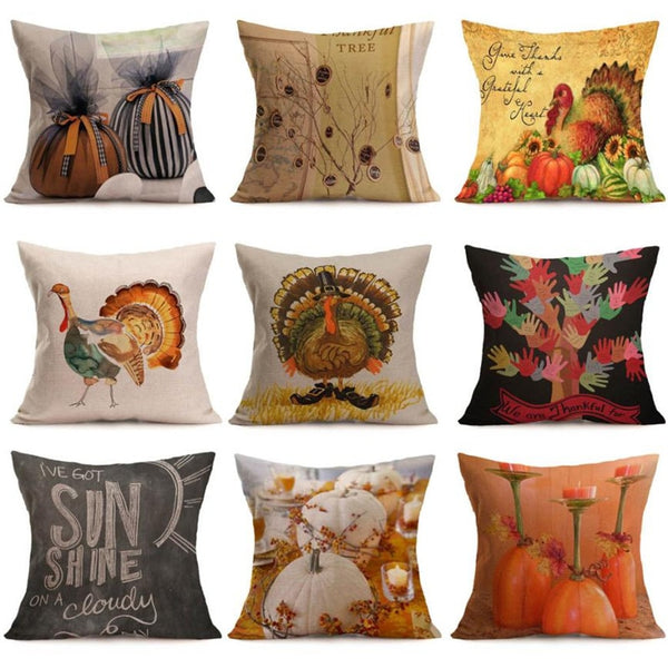 Happy Fall Printed Pillow Slips - The Trendinator