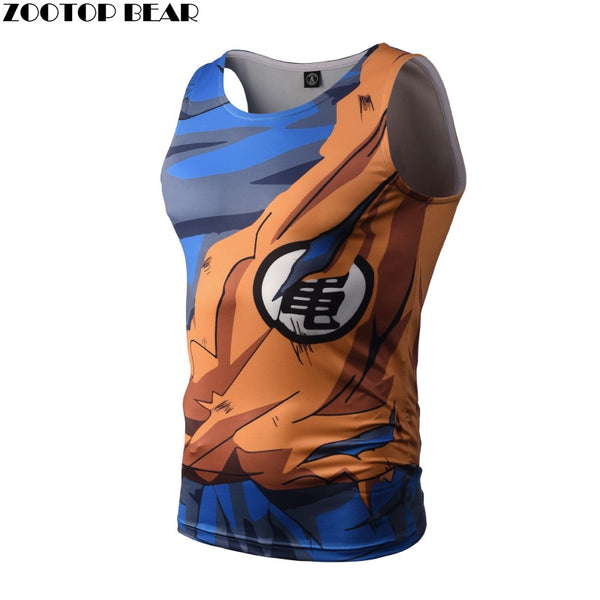 Zootop Bear Dragon Ball Tank Tops Men Anime Tops Naruto vest Fitness Tops Tees super saiyan singlets - The Trendinator