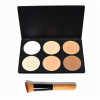 6 Colors Contouring and Highlighting Palette with Powder Brush - The Trendinator