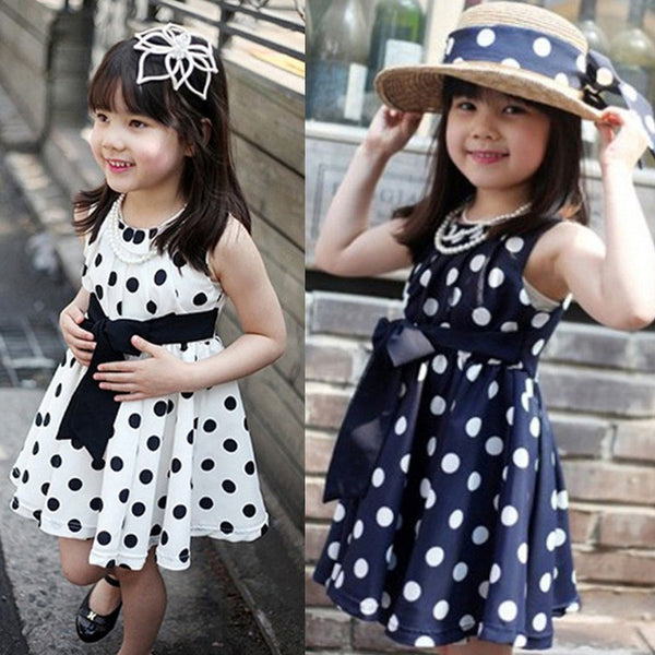1PC Kids Polka Dot Chiffon Sundress - The Trendinator