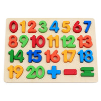 Colorful Wooden Math Number Puzzles For Toddlers - The Trendinator