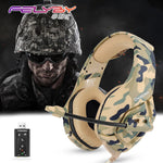 Camouflage Army Green Noise Canceling Gaming Headset