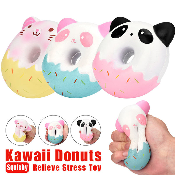 Kawaii Donut Squishy Slow Rising Cream Scented Stress Reliever Toys - The Trendinator