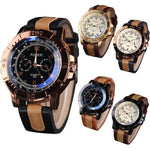 Luxury Men's Watches Analog Quartz Faux Leather Sport Wrist Dress Watch - The Trendinator