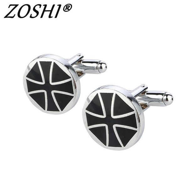 Men's Geometric Silver Plated Cuff Links - The Trendinator