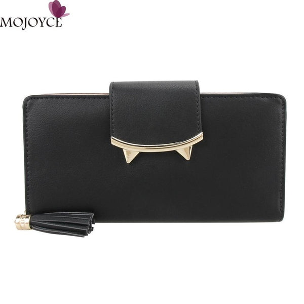 Women's Retro Leather Wallet With Tassel - The Trendinator