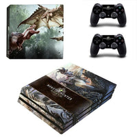 PS4 Pro Monster Hunter World Vinyl Decal Skin With Controller Skins - The Trendinator