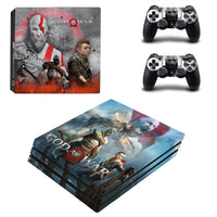 PS4 Pro God Of War Vinyl Skin With Controller Skins - The Trendinator