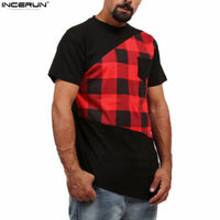Men's Casual Plaid T Shirt - The Trendinator