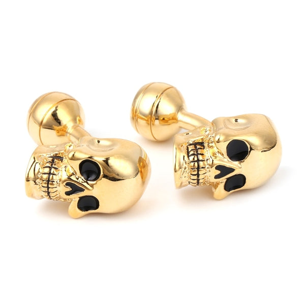 Men's Punk Gothic Skull Head Cufflinks - The Trendinator