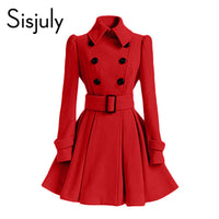 Sisjuly Women's Double Breasted Coat - The Trendinator