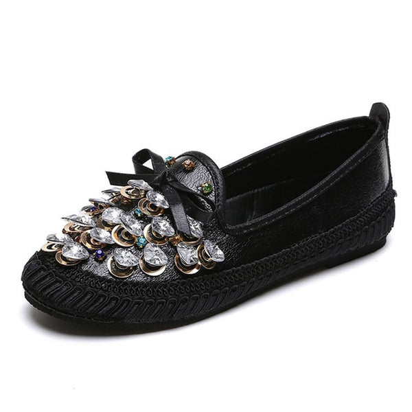 HEE GRAND Women's Crystal Flats - The Trendinator
