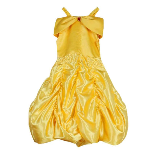Girls Yellow Princess Party Dress