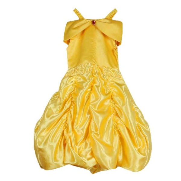 Girls Yellow Princess Party Dress - The Trendinator
