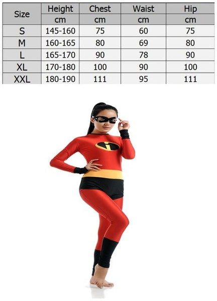 The incredibles Adult Bodysuit Costume - The Trendinator