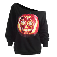 Women's Halloween Devil Pumpkin Sweatshirt - The Trendinator