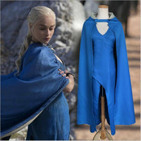Game of Thrones Daenerys Targaryen Blue Dress Cloak A Song Of Ice And Fire Movie Cosplay Halloween Costumes For Women - The Trendinator