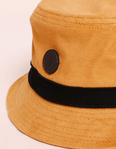Bucket hat casual yellow