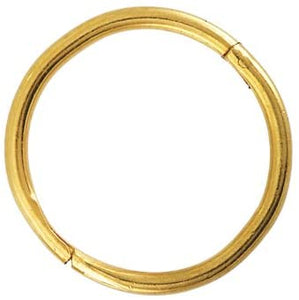 "GOLD PLATED SILVER 18GA 3 8"" SMOOTH HINGED HOOP (SENSITIVE)  Gold Plated .925 Silver 18Gauge 3/8"""