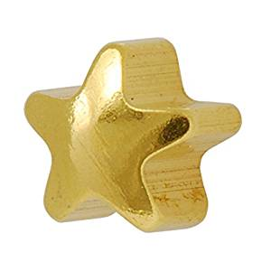 24k Gold-Plated, or Silver Color  Star Shape Earring 4mm