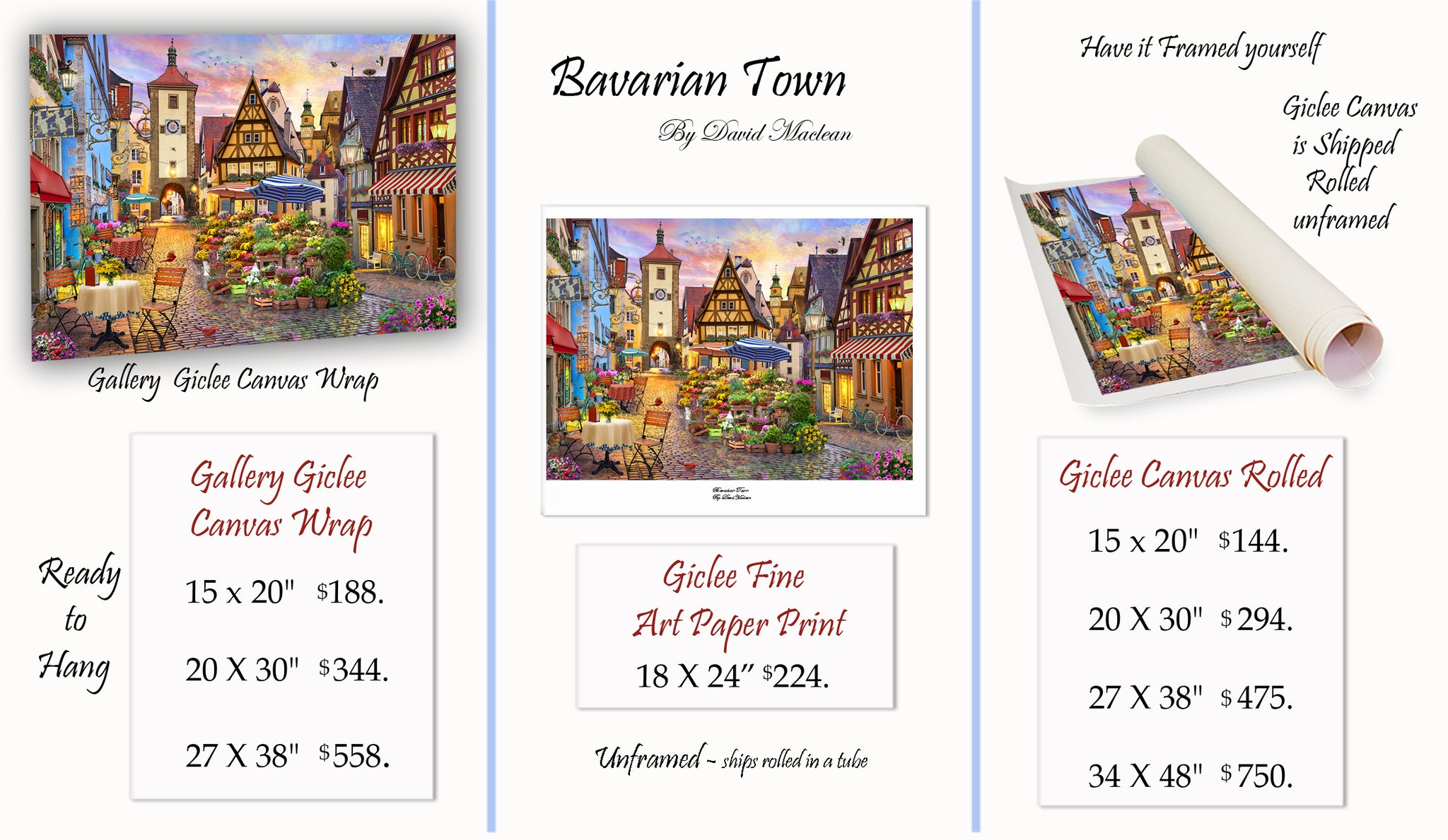 Copy of Copy of Bavarian Town  _________________________________ Order Options Here
