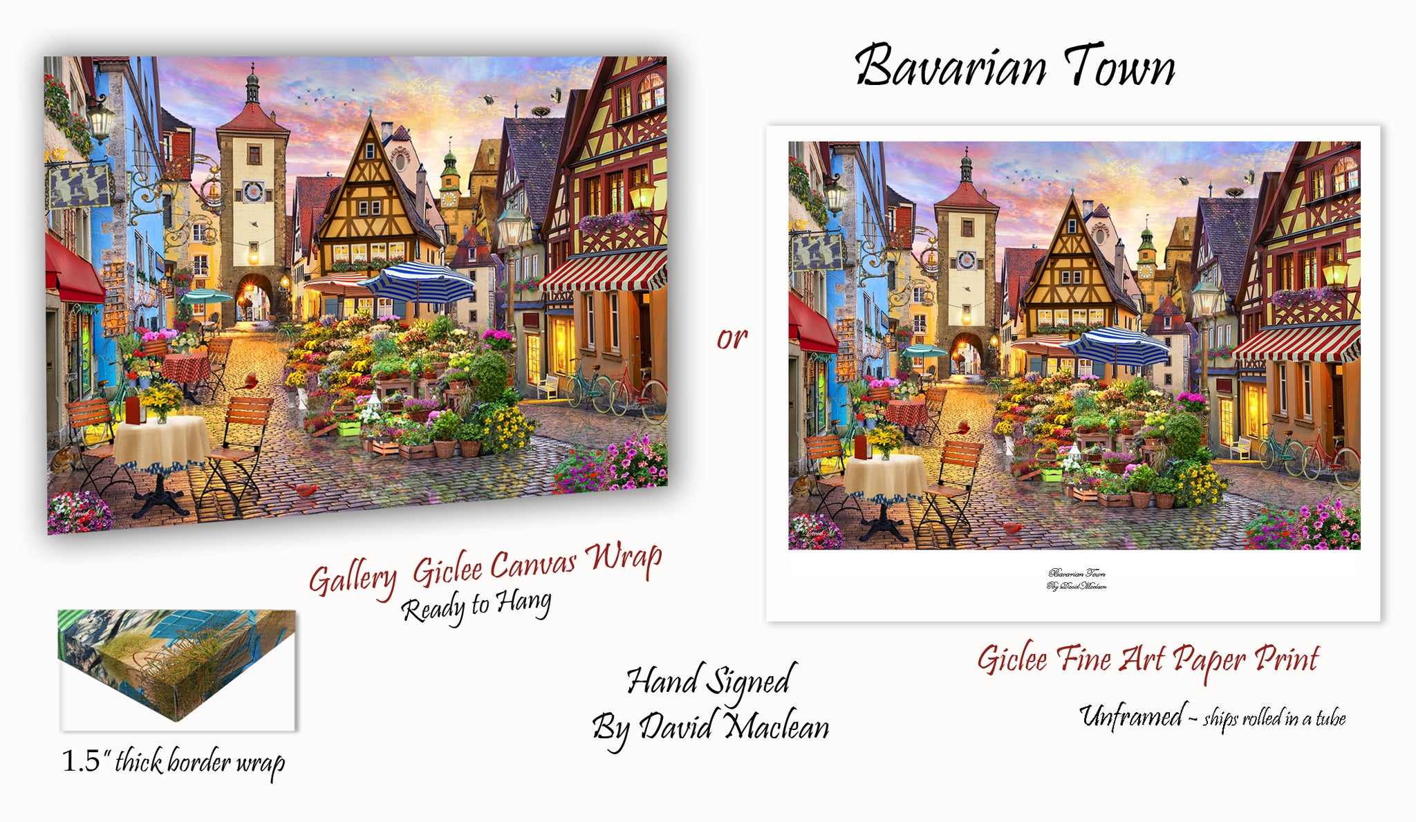 Bavarian Town  _________________________________ Order Options Here