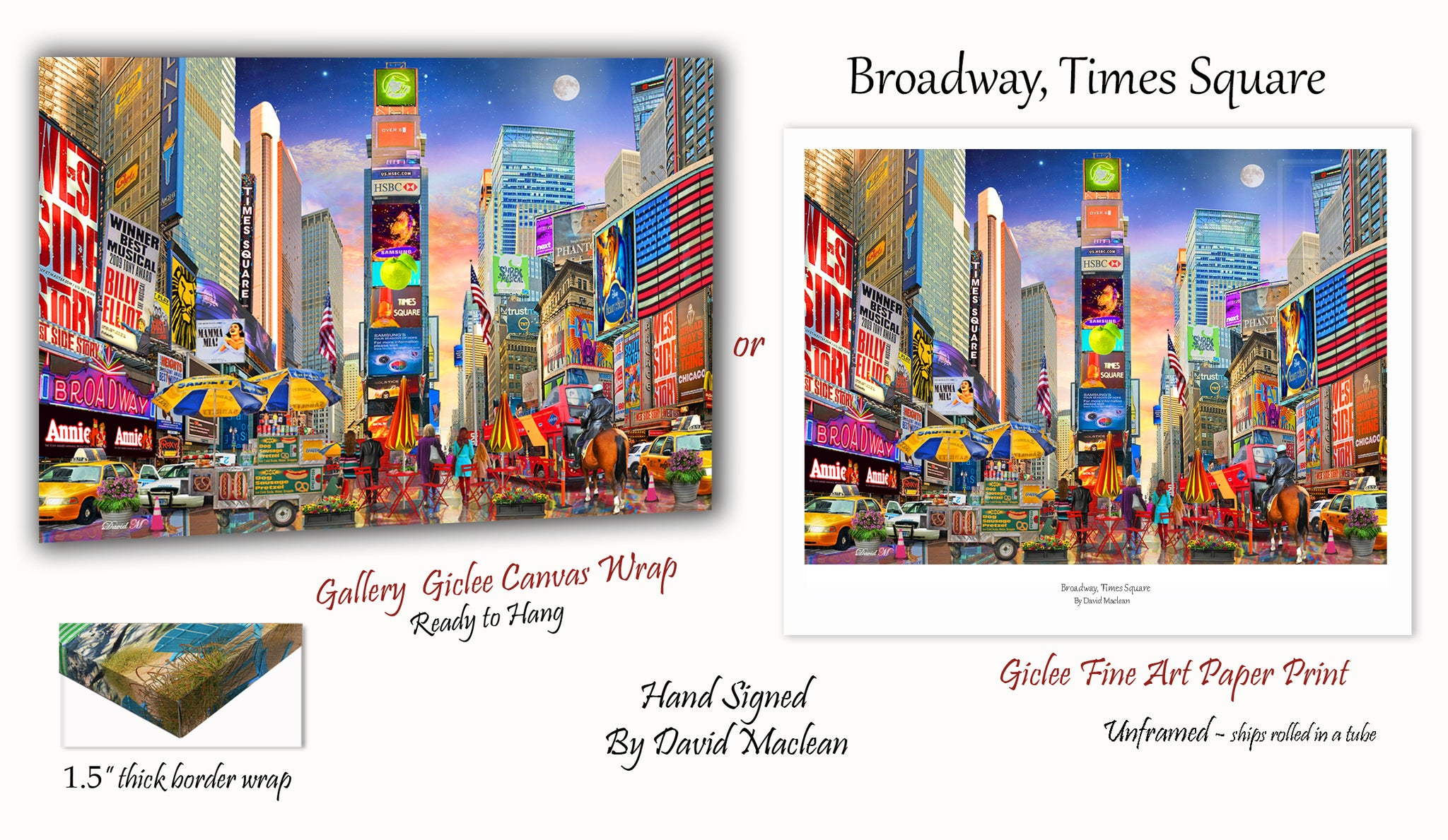 Broadway, Times Square  _________________Order Options Here