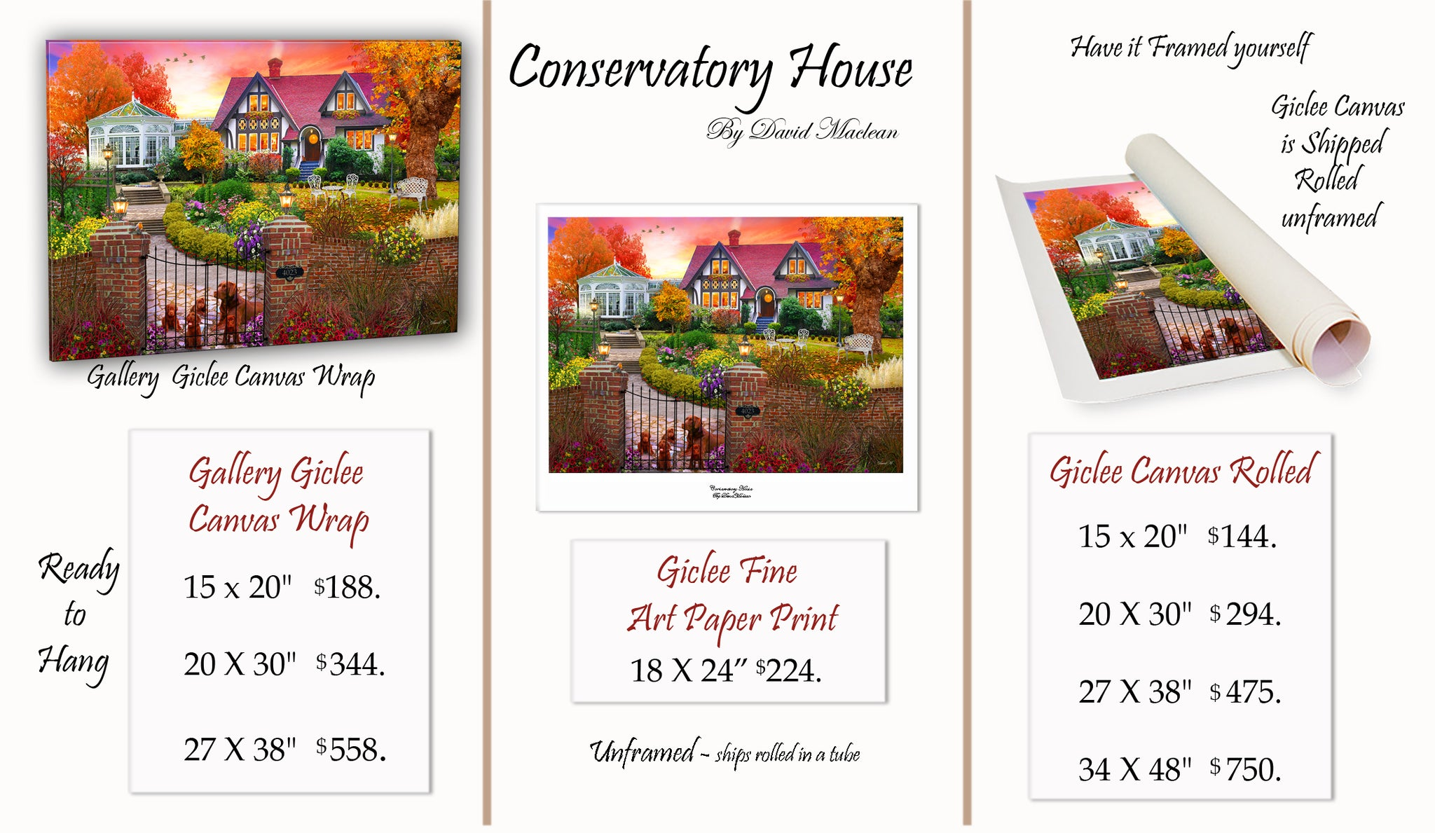 Conservatory House  ________________________ Order Options Here