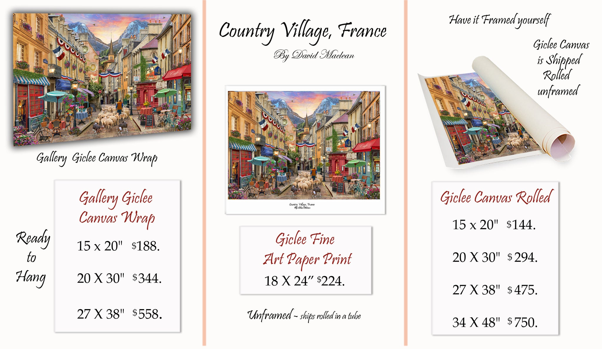 Country Village, France   ______________________ Order Options Here
