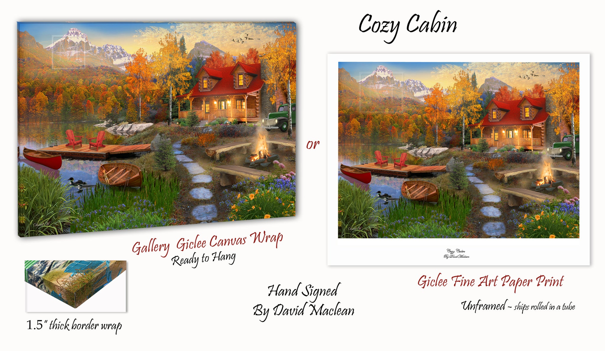 Cozy Cabin  ________________________ Order Options Here