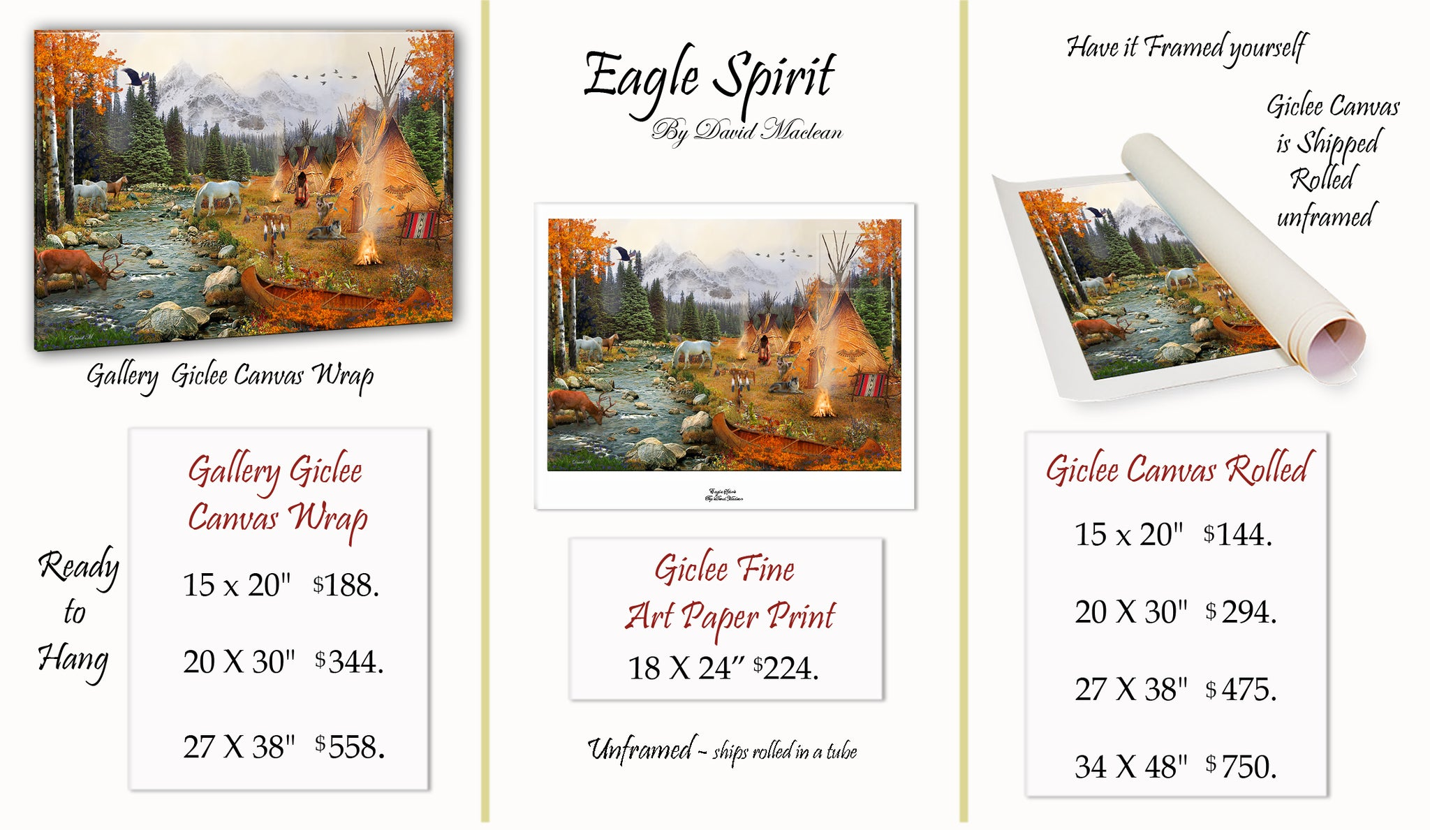 Eagle Spirit  ________________________ Order Options Here