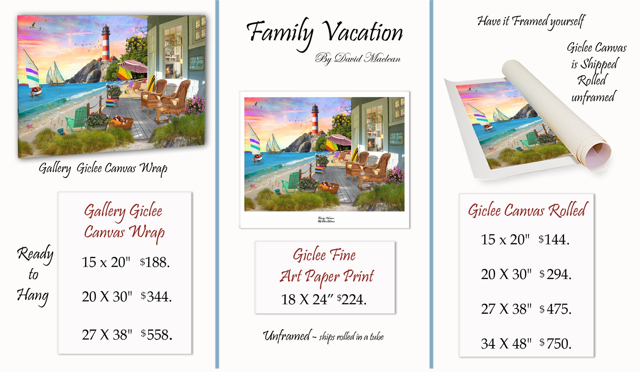 Family Vacation  ________________________ Order Options Here