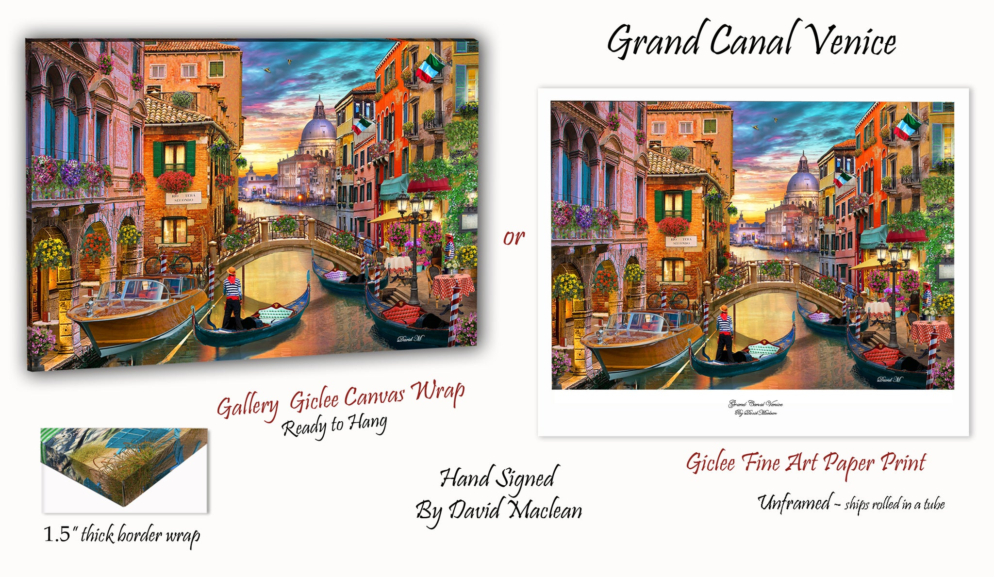Grand Canal, Venice  ________________________ Order Options Here